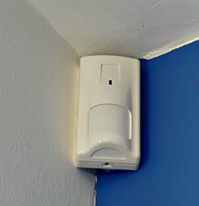 the of a motion detector alarm system
