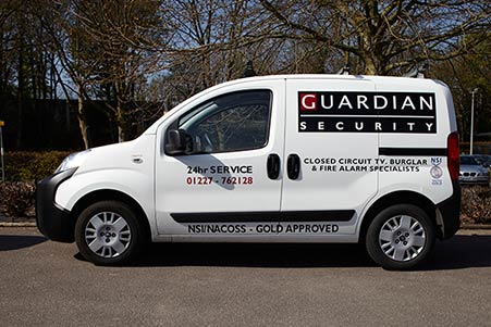 Guardian Security and Fire Van